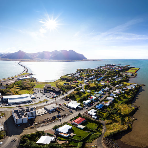 town of borgarnes in west iceland