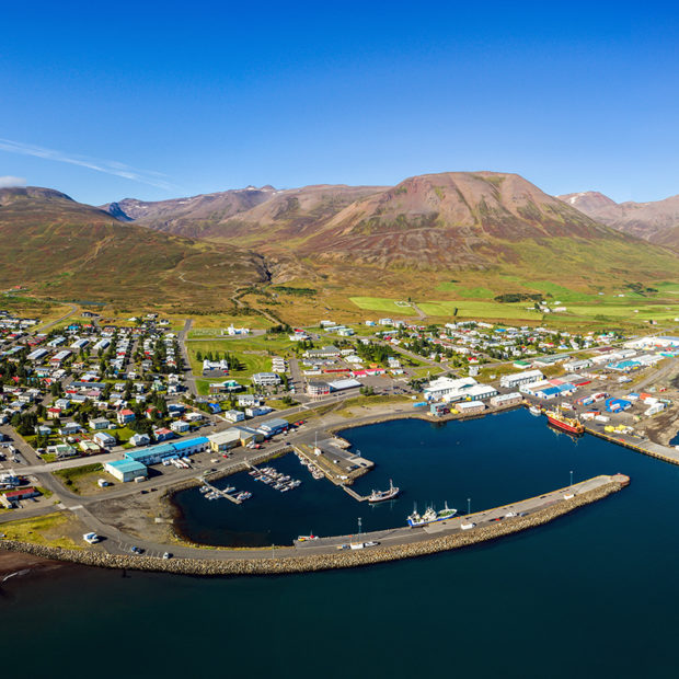 Dalvik (Dalvík) town Iceland