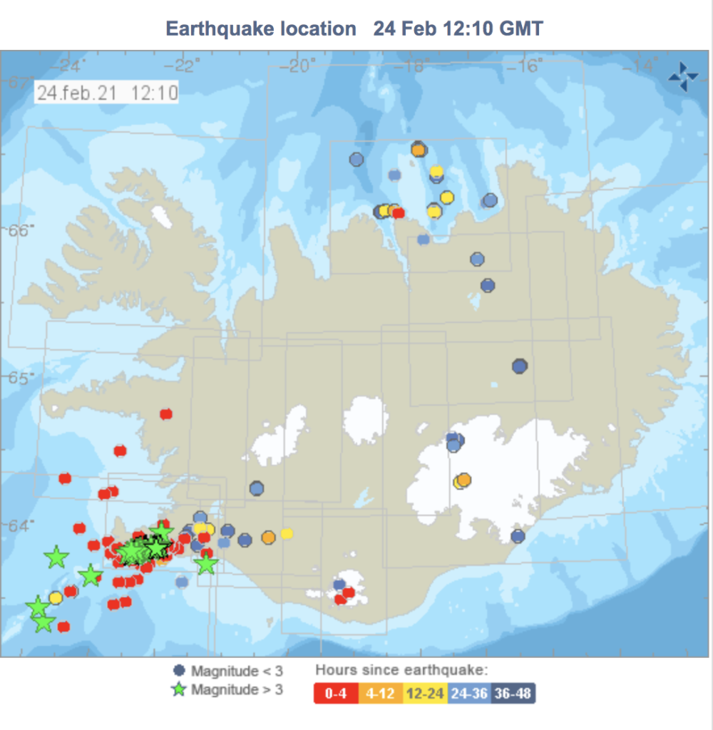 earthquakes in iceland locations