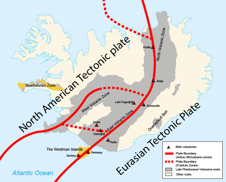 earthquakes in iceland volcanic system of iceland earthquakes in iceland and tectonic plates