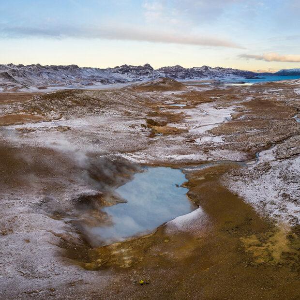 photo of austurengjahver geyser near kleifarvatn iceland