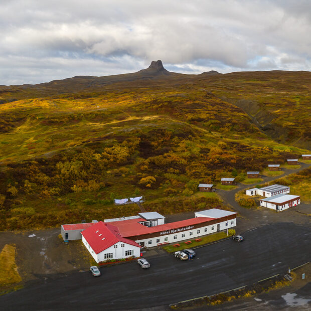 photo of hotel bjarkalundur in the westfjords of iceland