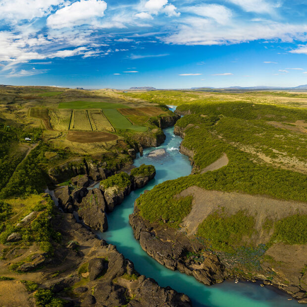 photo of the canyon bruarhlod in south west iceland