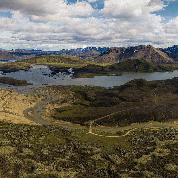 photo of the mountain road fjallabaksleid nyrdri in the interior highlands of iceland