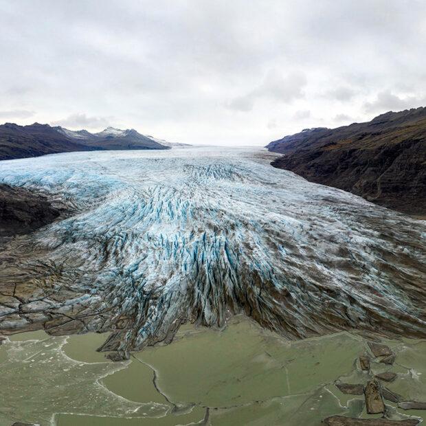 Flaajokull glacier