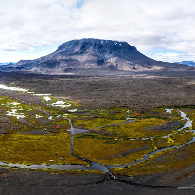 photo of highland oasis and fresh water springs herdubreidarlindir in vatnajokull national park iceland