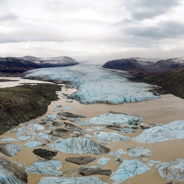 outlet glacier hoffellsjokull in vatnajokull national park iceland
