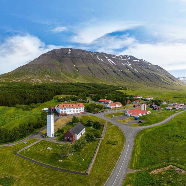 photo of the church at holar i hjaltadal north iceland skagafjordur