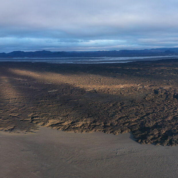 photo of Holuhraun lava field in the highlands of iceland