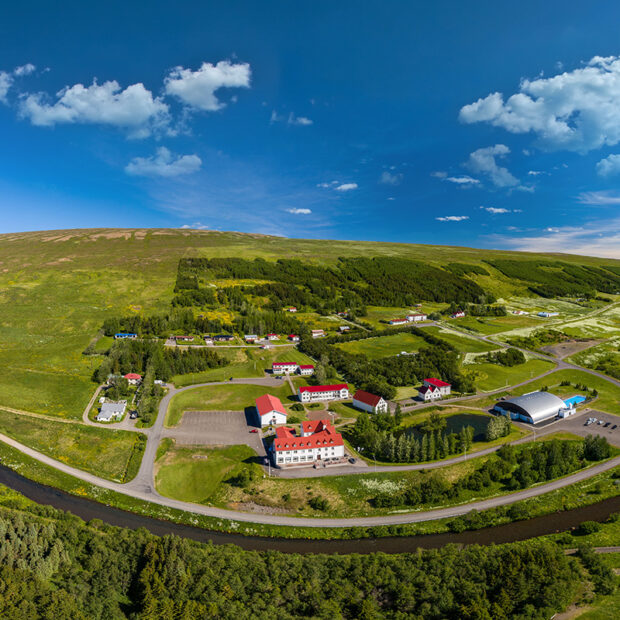 village town of laugar in north iceland