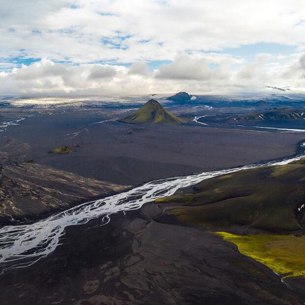 maelifell mountain on maelifellssandur desert in south highlands of iceland