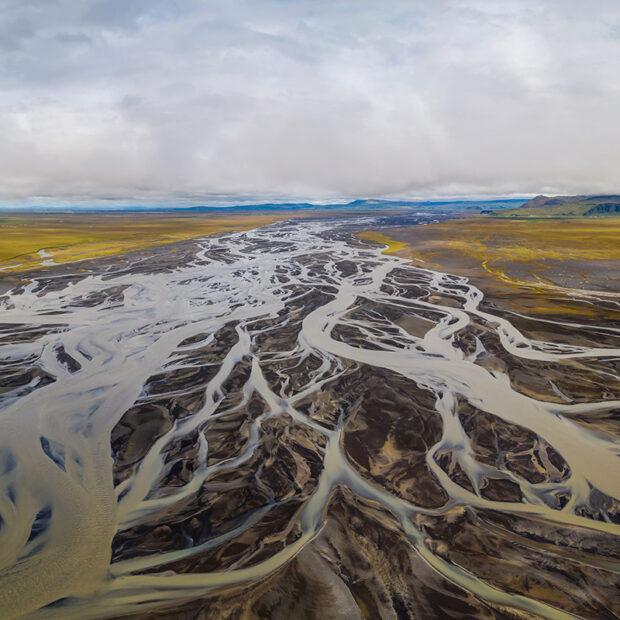photo of markarfljot river south iceland