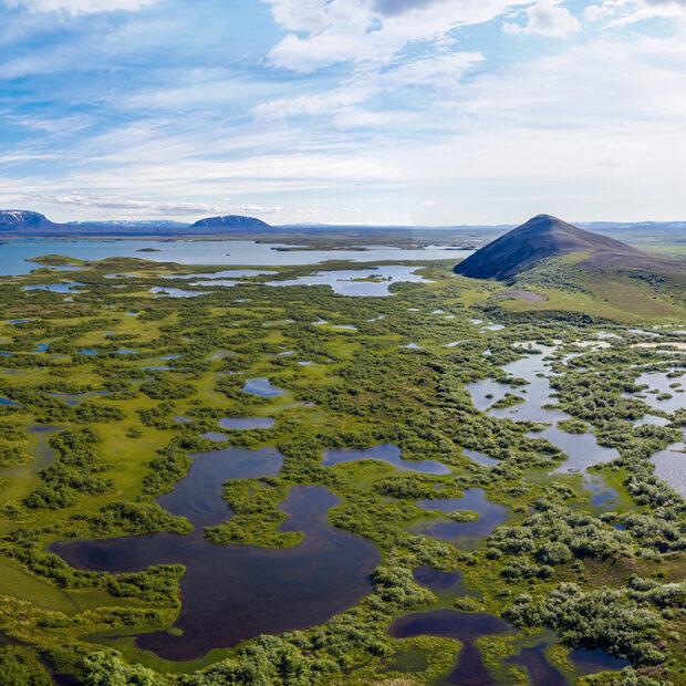vindbelgingur mountain by lake myvatn