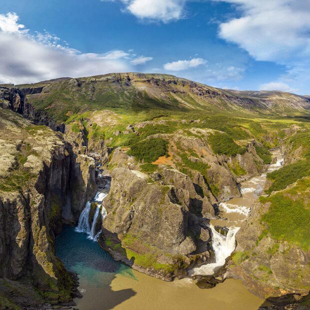 photo of nupsstadaskogur forest and tvilitihylur waterfall