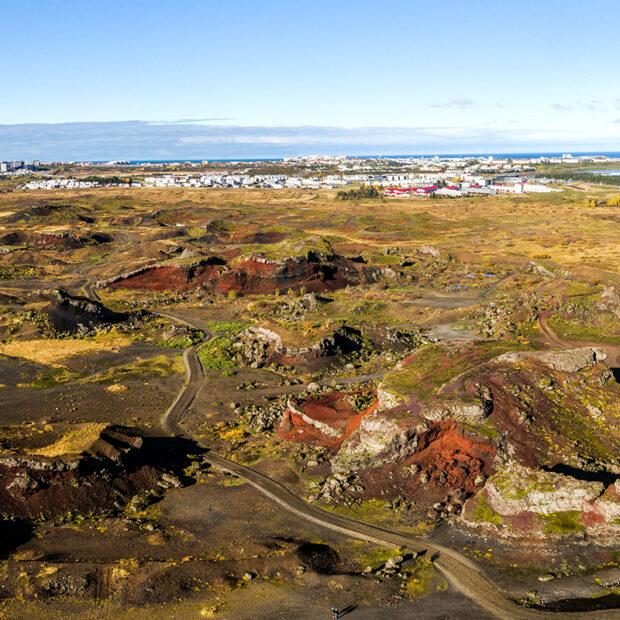raudholar craters near reykjavik iceland