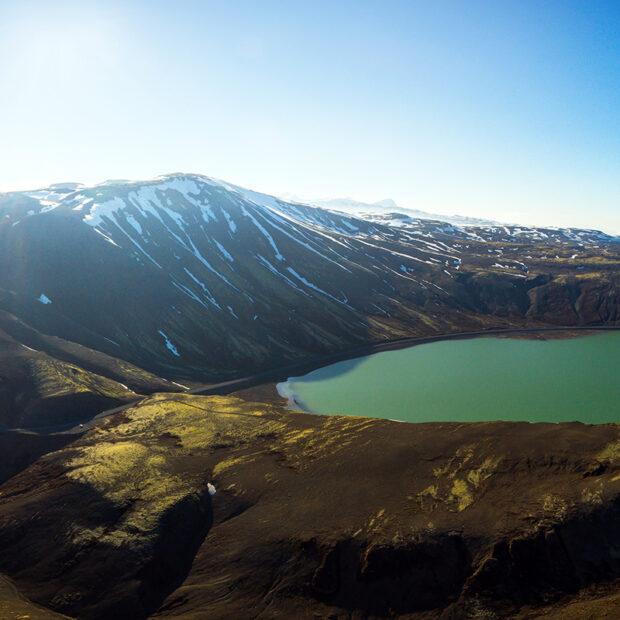 sandkluftavatn lake in southwest iceland
