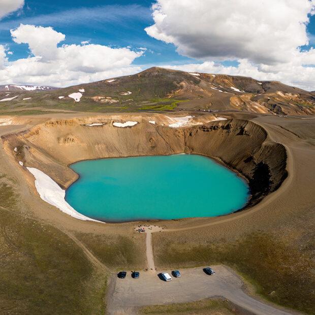 photo of viti krafla crater near myvatn iceland
