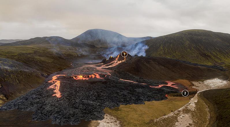 geldingadalir volcano eruption Iceland